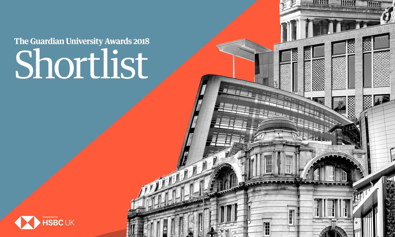 Guardian University Awards 2018 shortlist